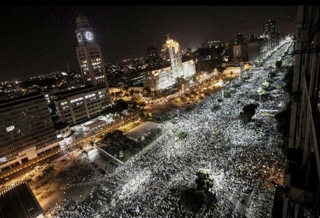Protestbevægelsen breder sig over hele Brasilien. Her i hovedstaden Brasilia