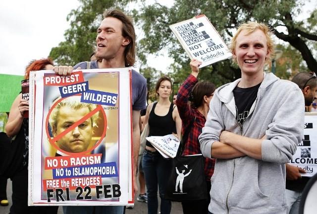 Demo mod Geert Wilders i Amsterdam
