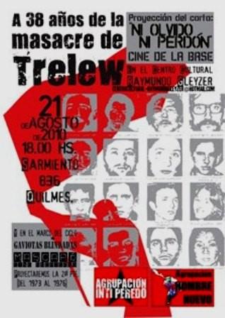Aktuel solidaritetsplakat til minde om massakrene i Bolivia 1973 - 76