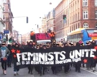 'Feministisk 8.marts-demo' 2008 i København