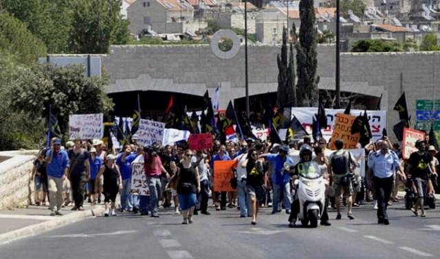 16. august 2011: March for social retfærdighed til det  israelske parlament Knesset i Vestjerusalem