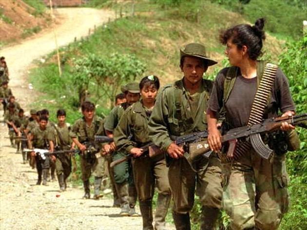 Medlemmer af den venstreorienterede colombianske guerillaorganisation FARC