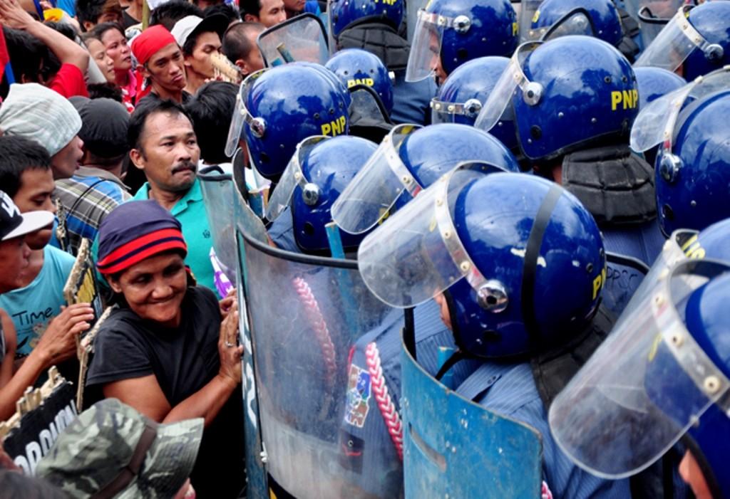 Arbejderkamp hos Toyota-arbejderne på Filippinerne, juli 2016