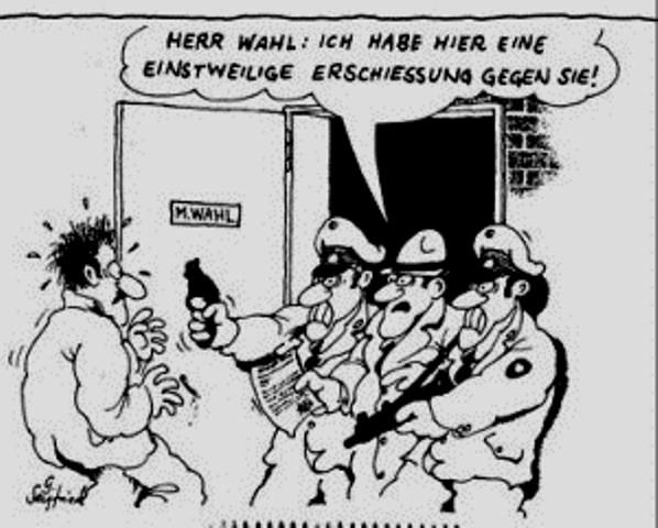 """""""Herr Wahl, jeg har en foreløbig tilladelse til at skyde Dem!"""""""