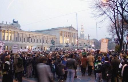 Antiracisme demo i Wien, efteråret 2009
