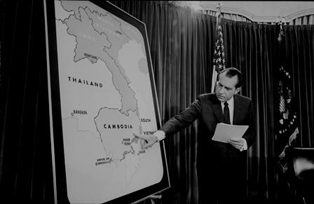 Præsident Nixon lægger planer for invasionen af Cambodia, maj 1969