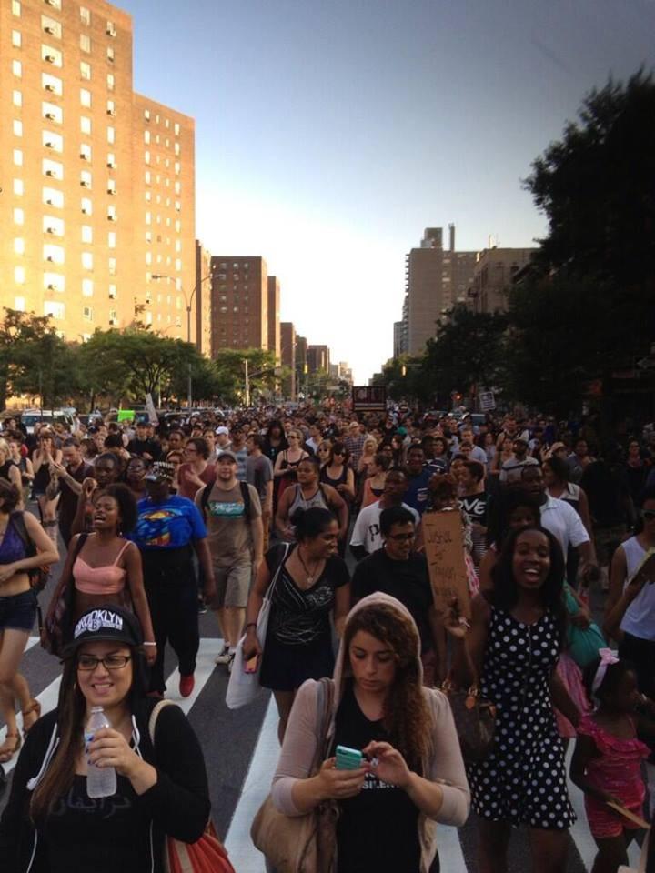 Demo startede i NY-Manhatten