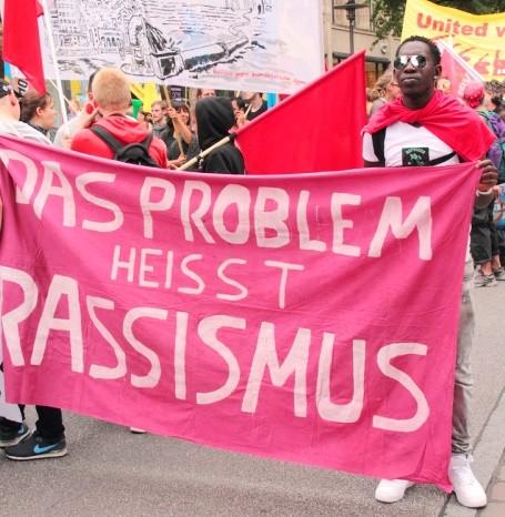 Soliaritetsdemonstration i Hamburg, d. 19. oktober 2013