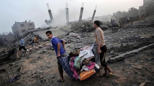 GAZA by, den 8. juli 2014