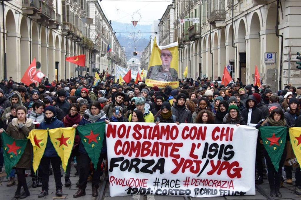 Solidaritet med Rojava fra Italien