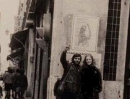Privat foto, Lissabon 1975 (forfatteren ses tv.)