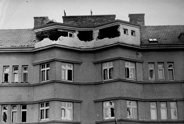 Sønderskudte arbejderboliger i Wien i februar 1934