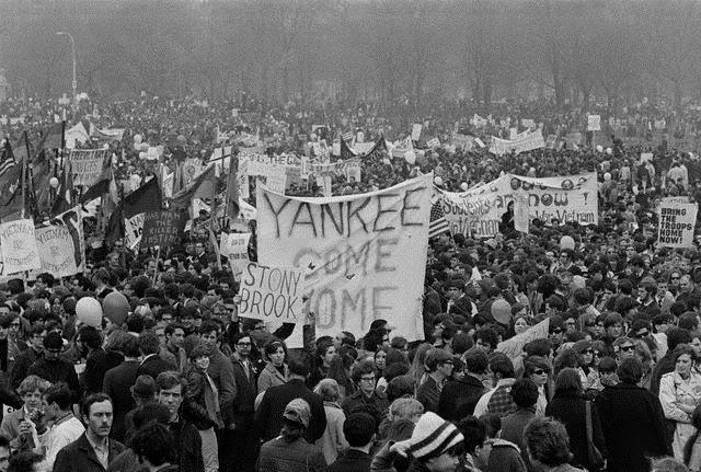 Vietnam -  solidaritetsdemo i Washington D.C. i 1968