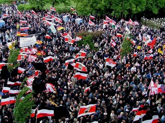 """"""" NPD som parlamentarisk spydspids for nazibevægelsen bliver finansieret med 48 % af skattepenge fra den tyske stat"""""""