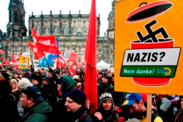 "Den lokale antifascistiske alliance ""Dresden Nazifrei"" 2010"