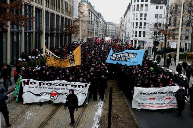 Demo mod naziopmarch, Dresden 2011