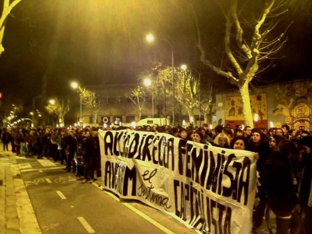 8. marts demo foran kvindefængsel i Barcelona