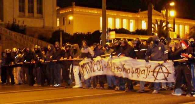 Anarkistisk demo mod statsracisme og fascisme