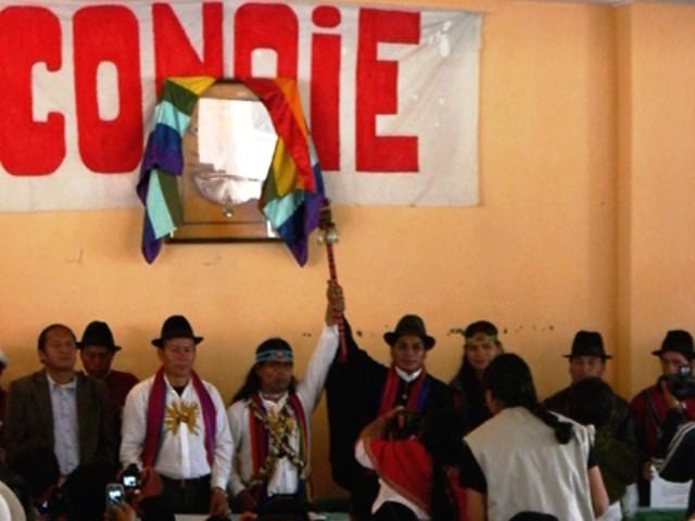 """""""Konføderation af Ecuadors indigene folkeslag"""" – Conaie"""