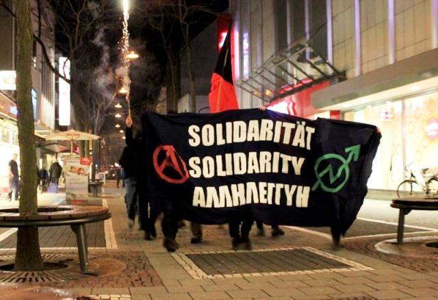 Demonstrationsinitiativ udgående fra det anarkistiske bymiljø i Athen