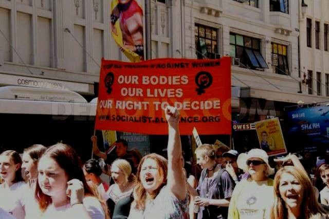 8.marts demo i Sydney, Australiens største by