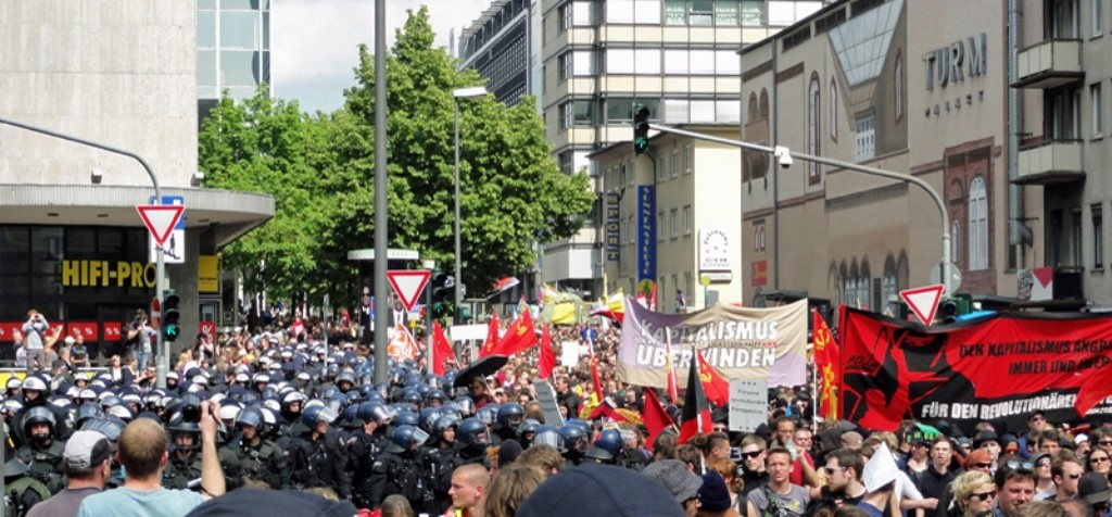 Blockupy-demonstration i Frankfurt a.m.