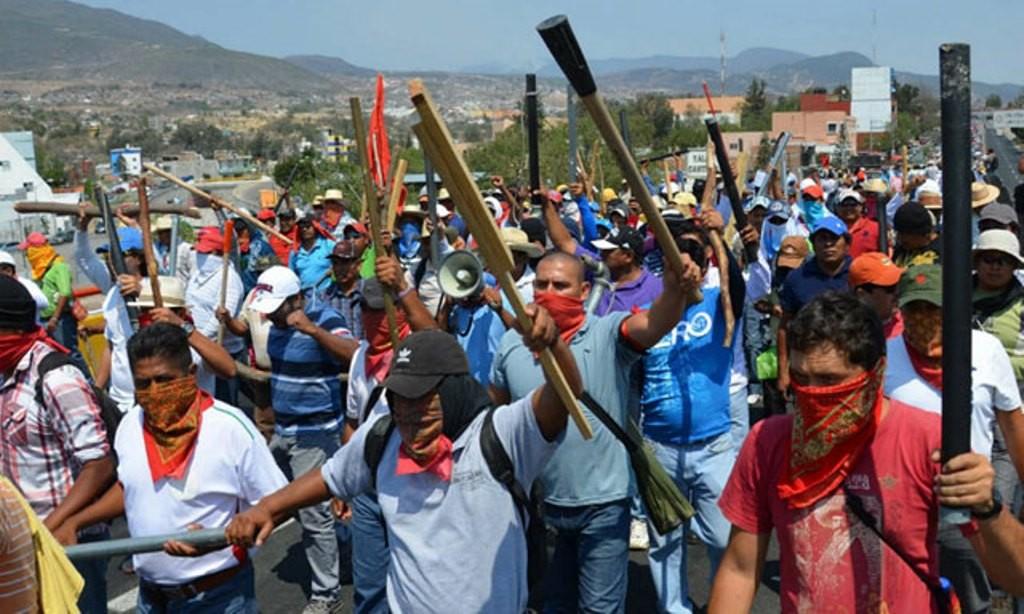 Arbejderdemonstration i Chilpancingo, Mexico maj 2015