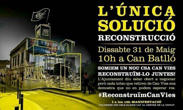 Plakaten mobiliserer til ny demonstration i Barcelona på lørdag, d. 31. maj 2014