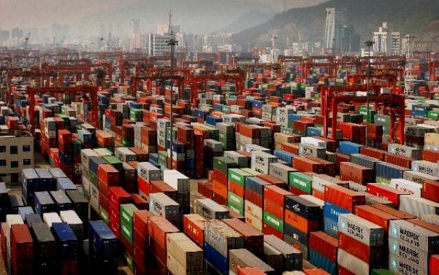 Kinas eksporthavn i Shanghai
