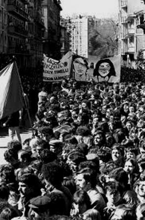 Solidaritetsdemo for de politiske fanger i Milano