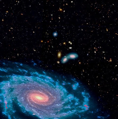 De fjerne galakser har ligesom vores mælkevejssystem form som en skive. Men deres indhold af gas er væsentligt højere, hvilket betyder at de danner mange flere stjerner