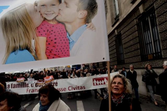 Demonstration imod homo-ægteskaber