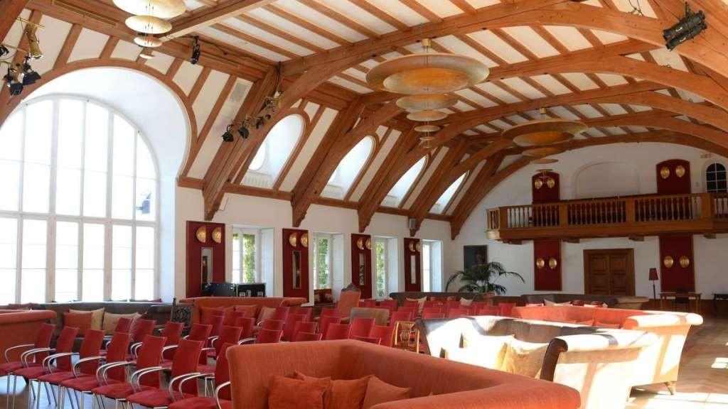 Konferencesalen på slot Elmau