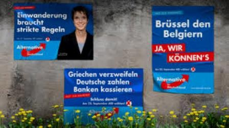 "Valgpropaganda fra Alternative für Deutschland"" (AfD)"
