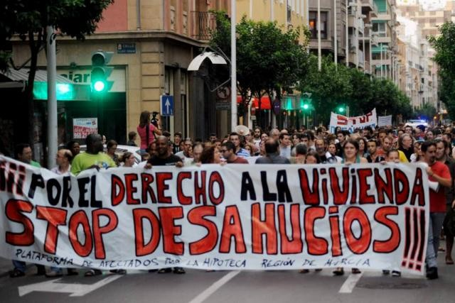 Demonstration mod tvangsudsættelser i Barcelona