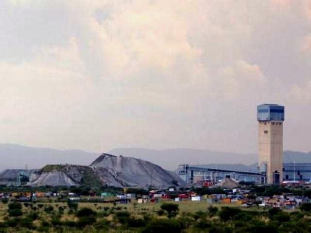 Platinminen af det britisk-sydafrikansk lonmin-koncern i nærheden af Rustenburg