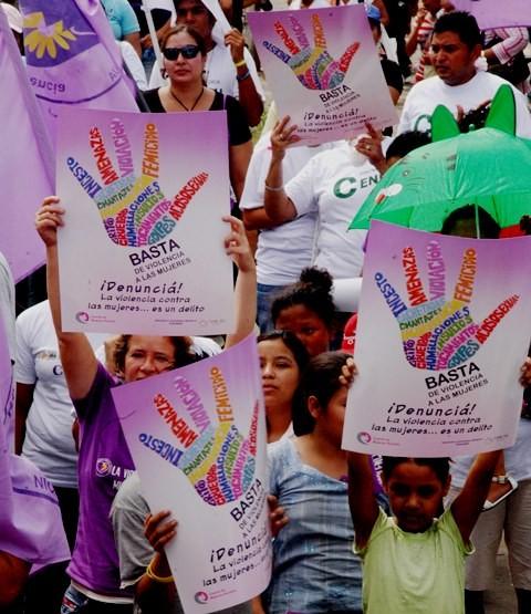 Demonstration imod vold mod kvinder i hovedstaden Managua