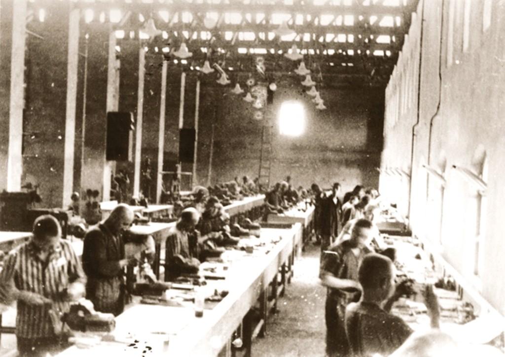 Tvangsarbejdere hos Siemens ved koncentrationslejren Bobrek - Auschwitz
