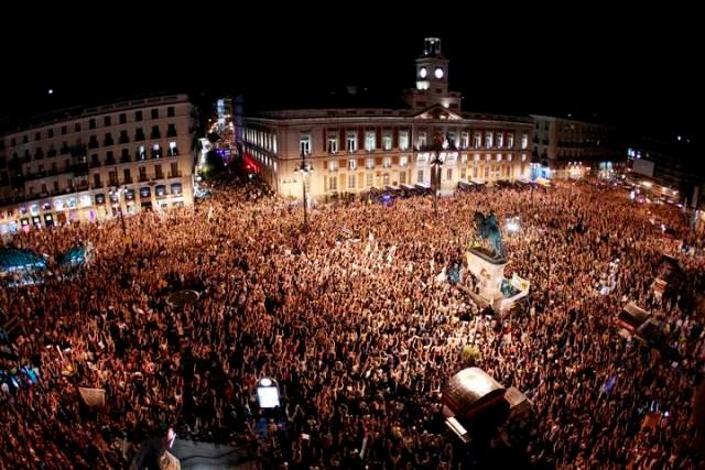 Movimiento 15-M - demonstration i Madrid, d. 12. maj 2013 ved 24-tiden