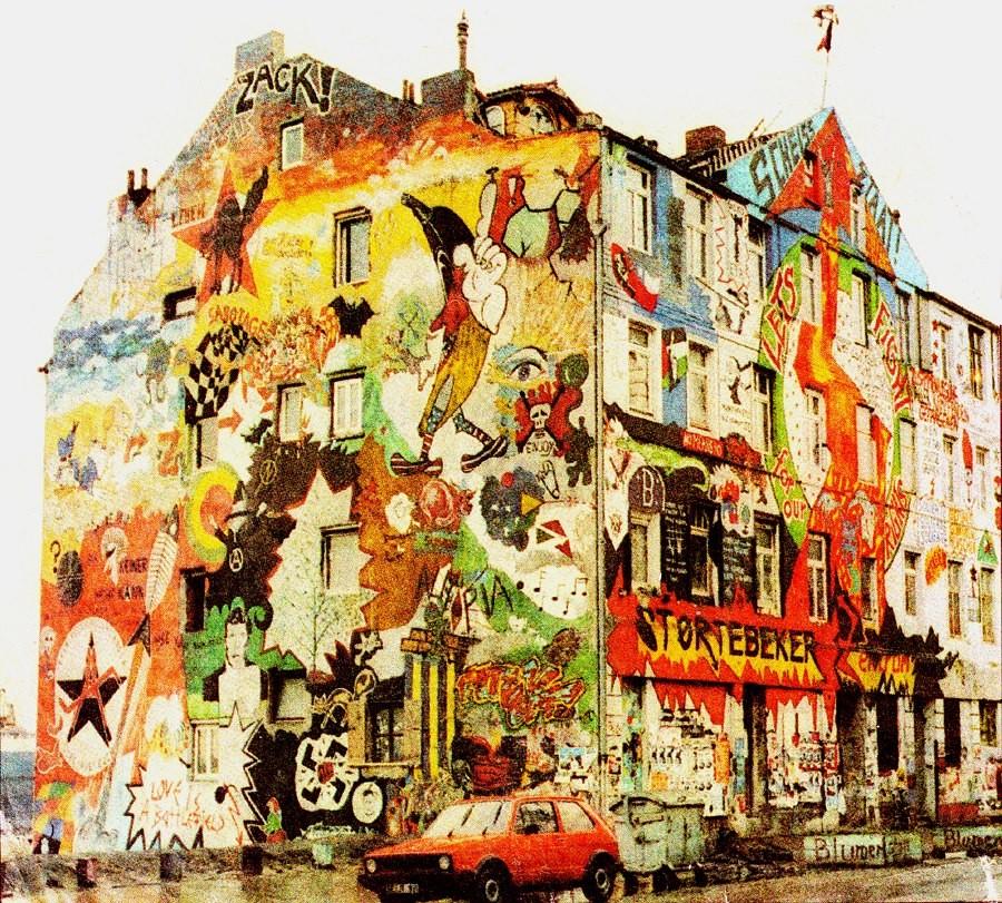 Hamburg: Et af de bz'atte huse i Hafenstrasse