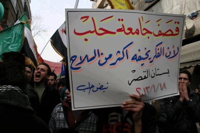 """"""" Han bombaderede Alleppos universitet fordi han frygtede tanker mere end våben"""""""