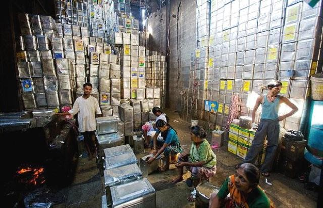 Småvirksomhed i Mumbais slum