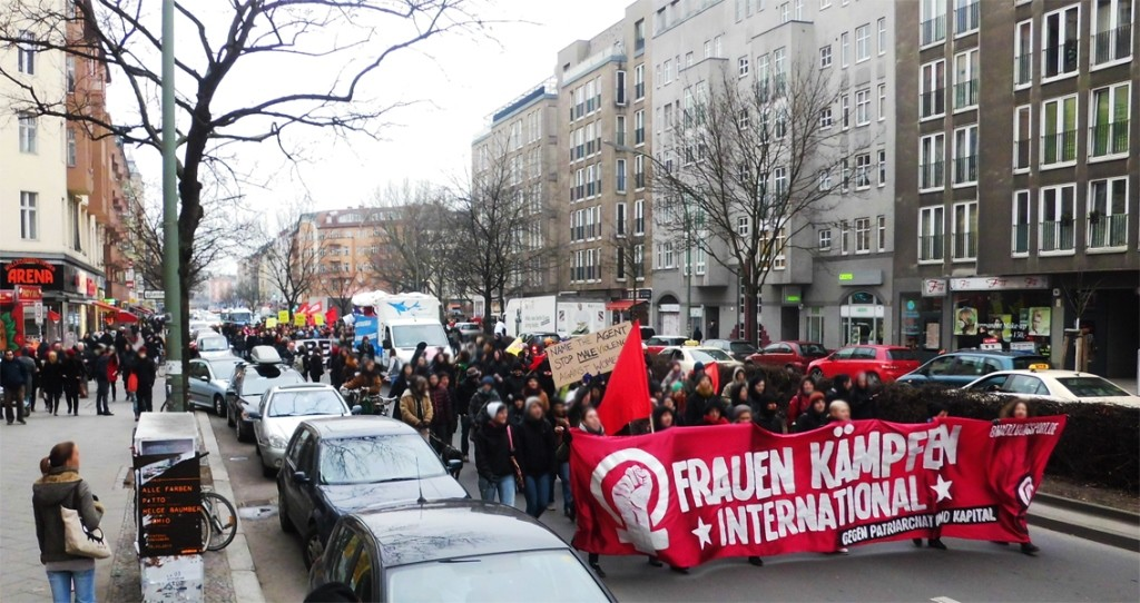 Autonom feministisk demonstration i Berlin