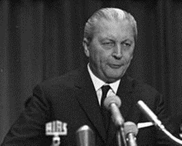 Forbundskansler Kurt Georg Kiesinger (1966-1969). Medlem af nazipartiet NSDAP 1933-1945