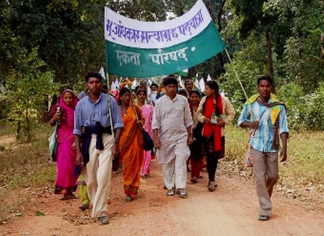 Landløses protestmarch til Delhi