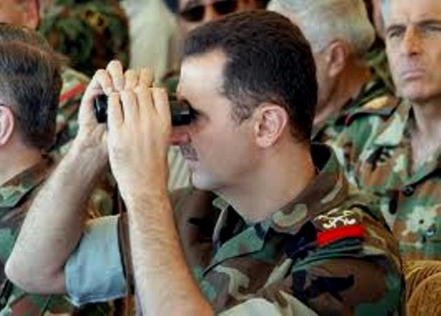 Syriens diktator Basher al Assad deltager i militær operation mod folkeopstanden