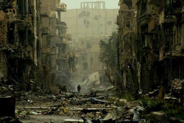 Byen Deir al Zor i April 2013