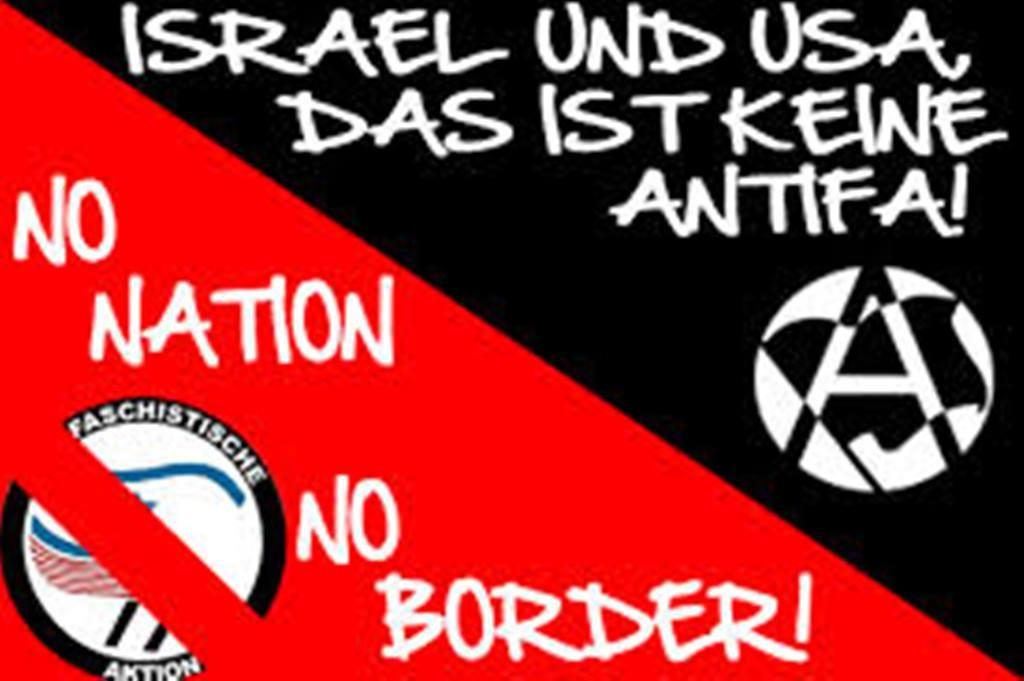 """Plakat fra anarkosyndikalisterne (Freie Arbeiter Union - FAU) rettet imod """"anti-deutsche"""" strømning"""