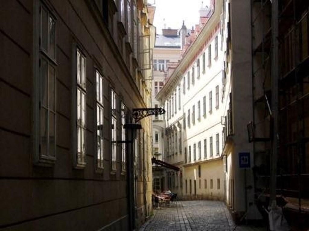 Gaden af Mozarts hus i Wien