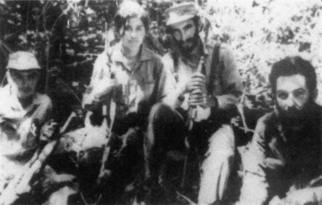 En gruppe af Ches guerilla i Bolivia